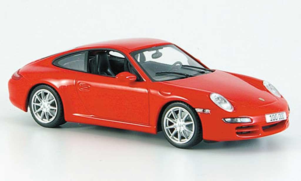 Porsche 997 Carrera 1/43 Minichamps rouge ''100.000ster 911'' 2007 miniature