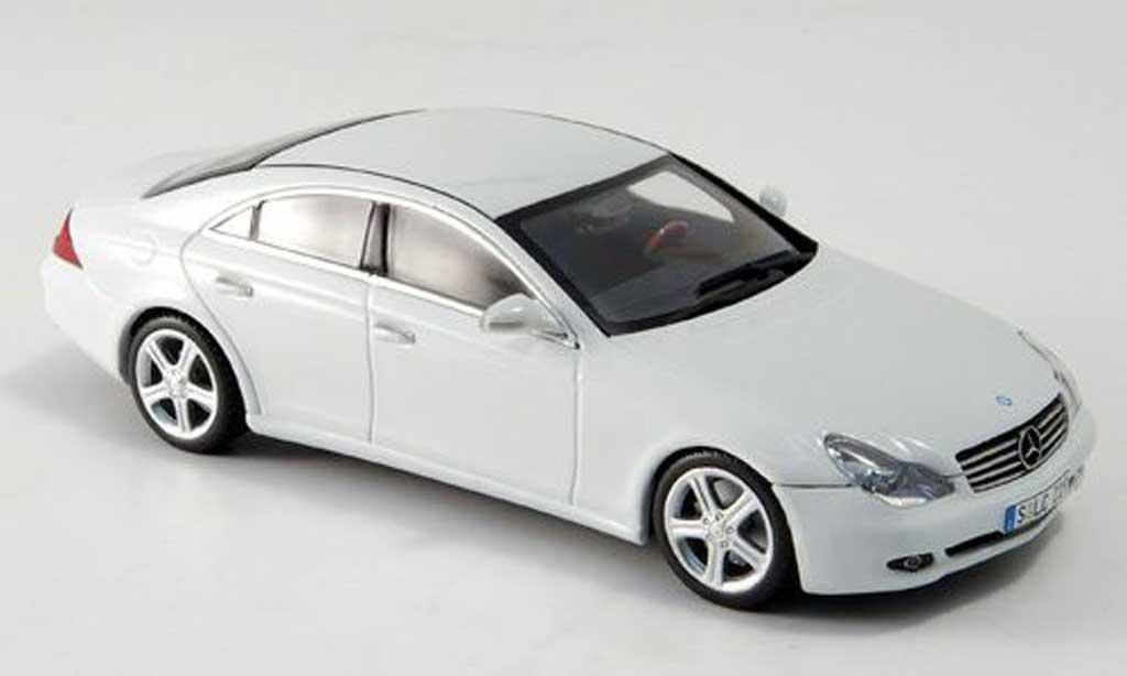 Mercedes Classe CLS 1/43 Minichamps white Linea Bianco 2005 diecast
