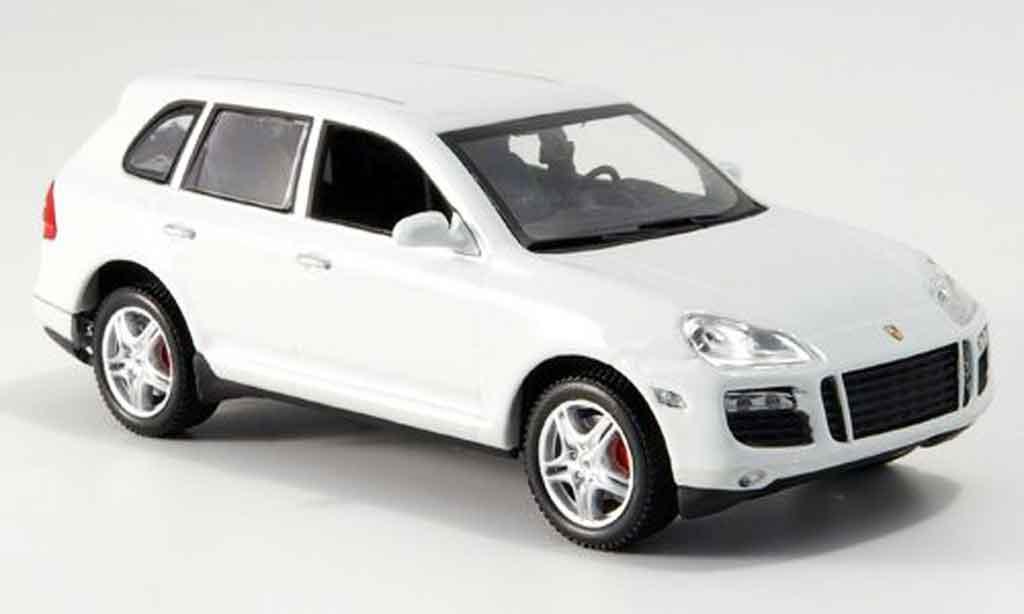 Porsche Cayenne Turbo 1/43 Minichamps blanche Linea Bianco 2007 miniature