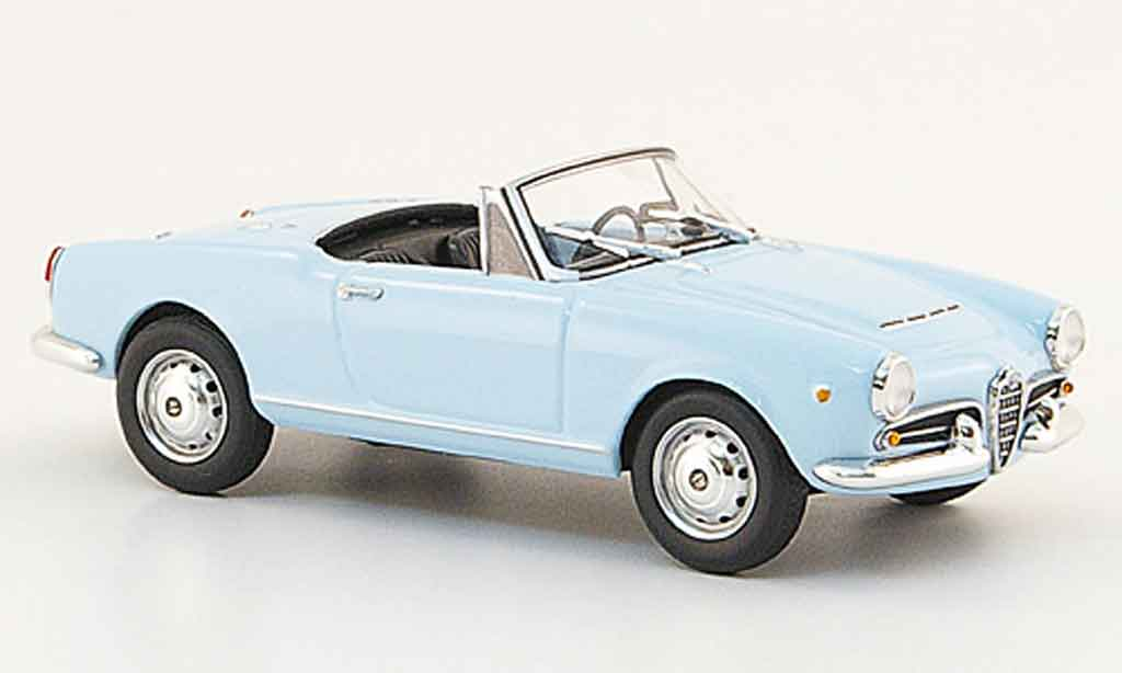 Alfa Romeo Giulietta Spider 1/43 Minichamps bleu 1962 diecast