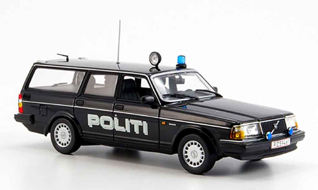 Volvo 240 1/43 Minichamps Break police Politi diecast model cars