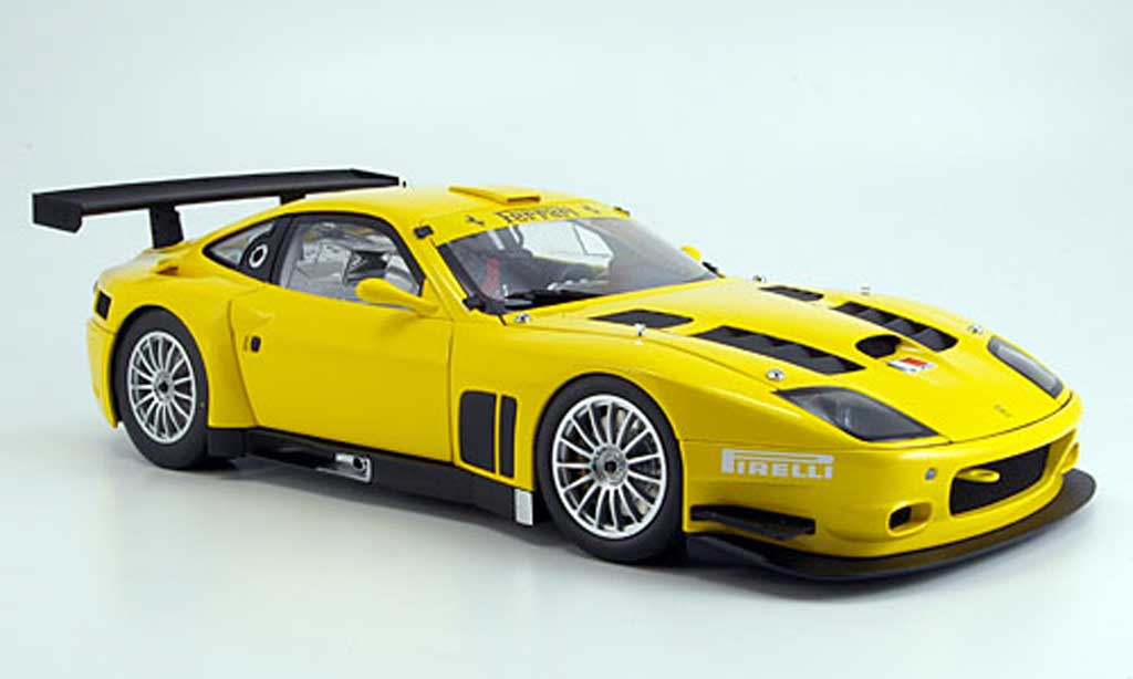 Ferrari 575 GTC 1/18 Kyosho yellow 2005 diecast model cars
