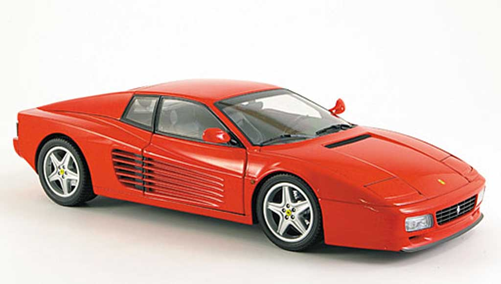 Ferrari Testarossa 512 1/18 Kyosho tr red 1992 diecast model cars