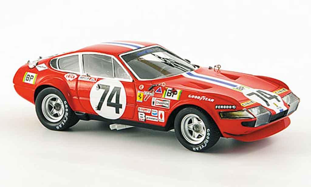 Ferrari 365 GTB/4 1/43 Red Line no.74 sechster platz le mans 1972 miniatura