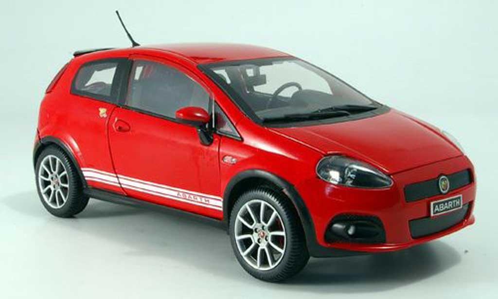 Fiat Grande Punto Abarth 1/18 Mondo Motors ss rouge miniature