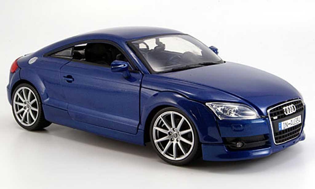 Audi TT coupe 1/18 Motormax bleu 2007 diecast