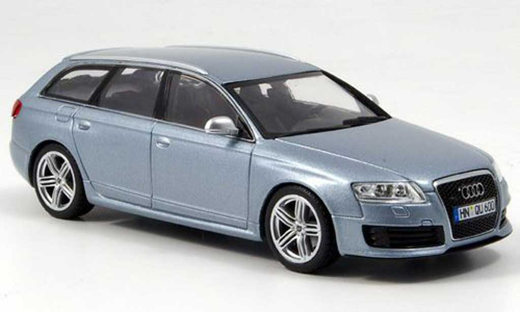 Audi RS6 1/43 Minichamps Avant gray bleu 2008 diecast