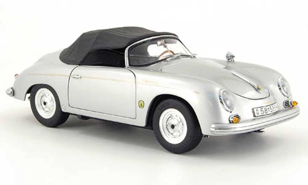 Porsche 356 1/18 Schuco speedster grise miniature