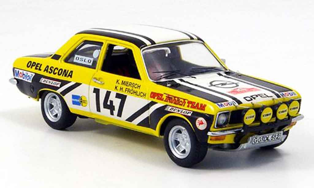 Opel Ascona A 1/43 Schuco no.147 frohlich rallye monte carlo 1974 miniature