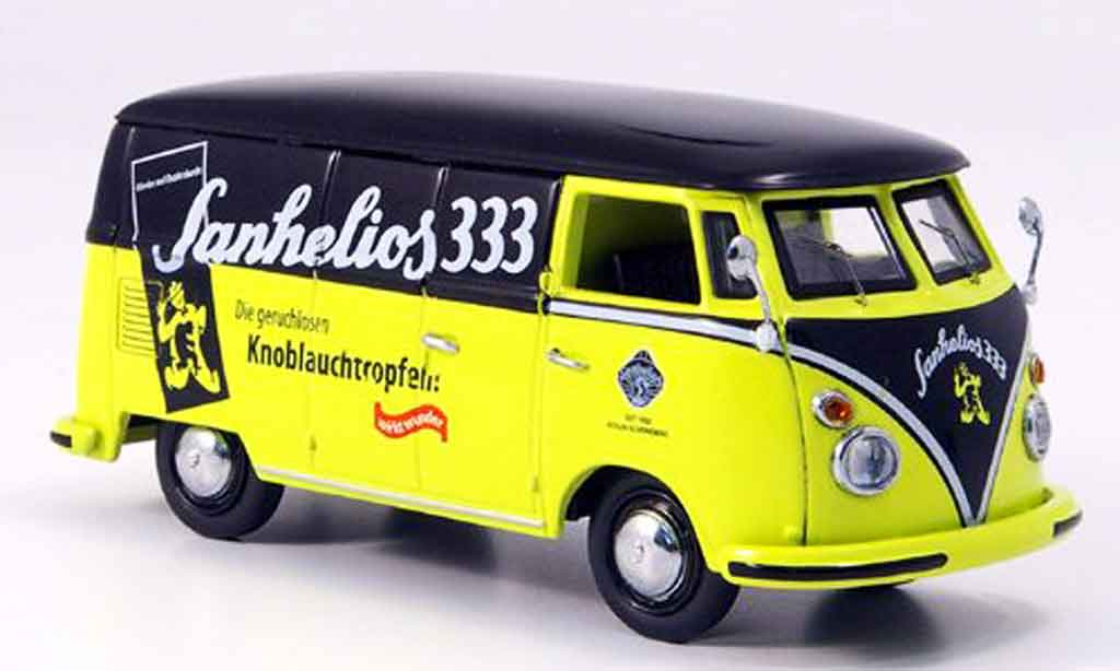 Volkswagen Combi 1/43 Schuco t 1 kasten sanhelios 333 black yellow diecast