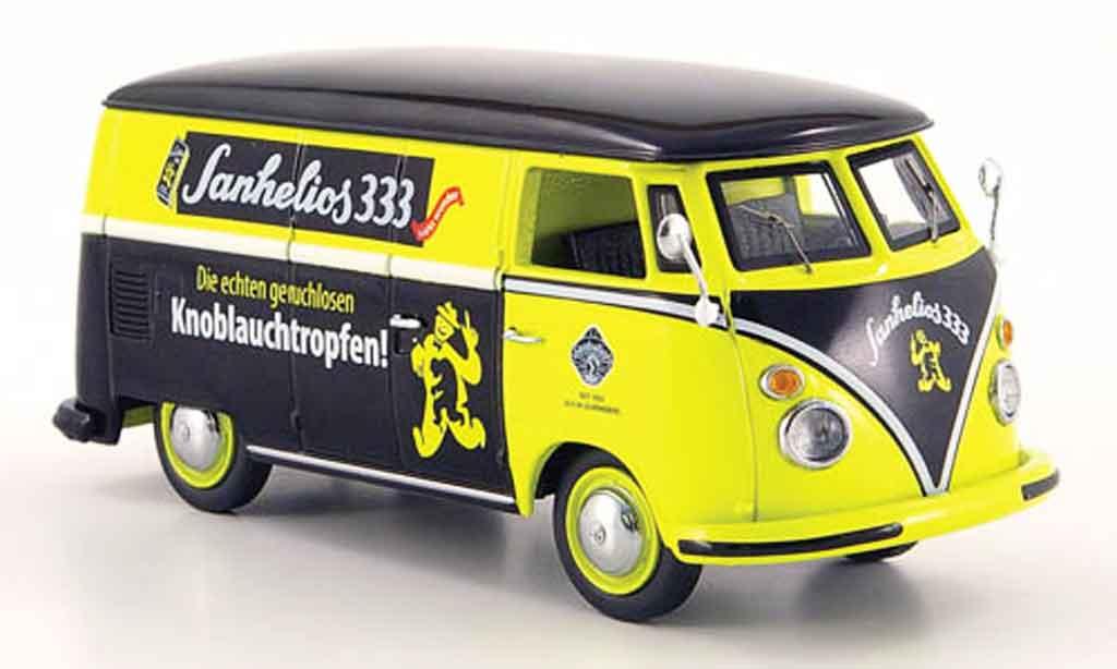 Volkswagen Combi 1/43 Schuco t 1 kasten sanhelios 333 jaune noire miniature
