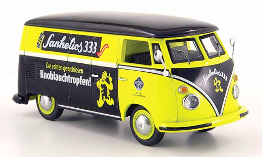 Volkswagen Combi 1/43 Schuco t 1 kasten sanhelios 333 amarillo negro coche miniatura