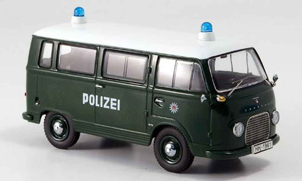 Ford FK 1000 1/43 Schuco Bus police Hamburg miniature