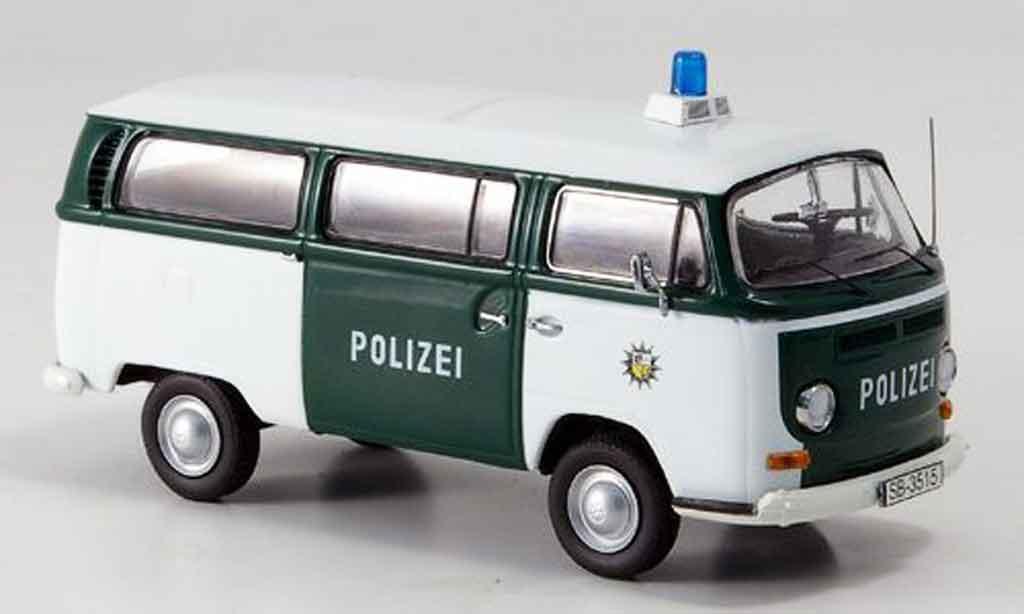 Volkswagen Combi 1/43 Schuco t2a bus police saarbrucken miniatura