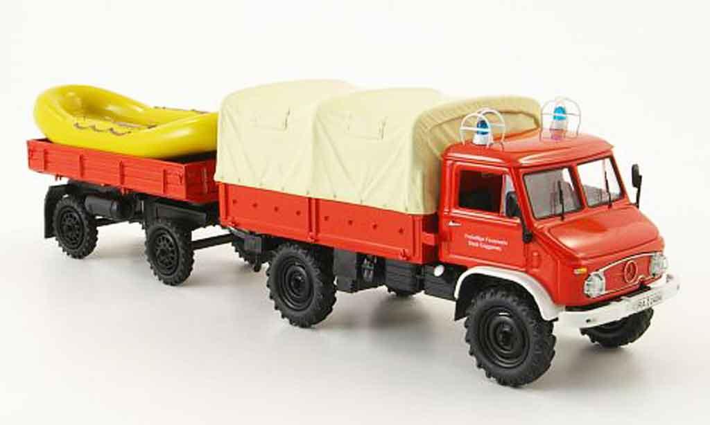 Mercedes Unimog 1/43 Schuco 404 pompier Gaggenau miniature
