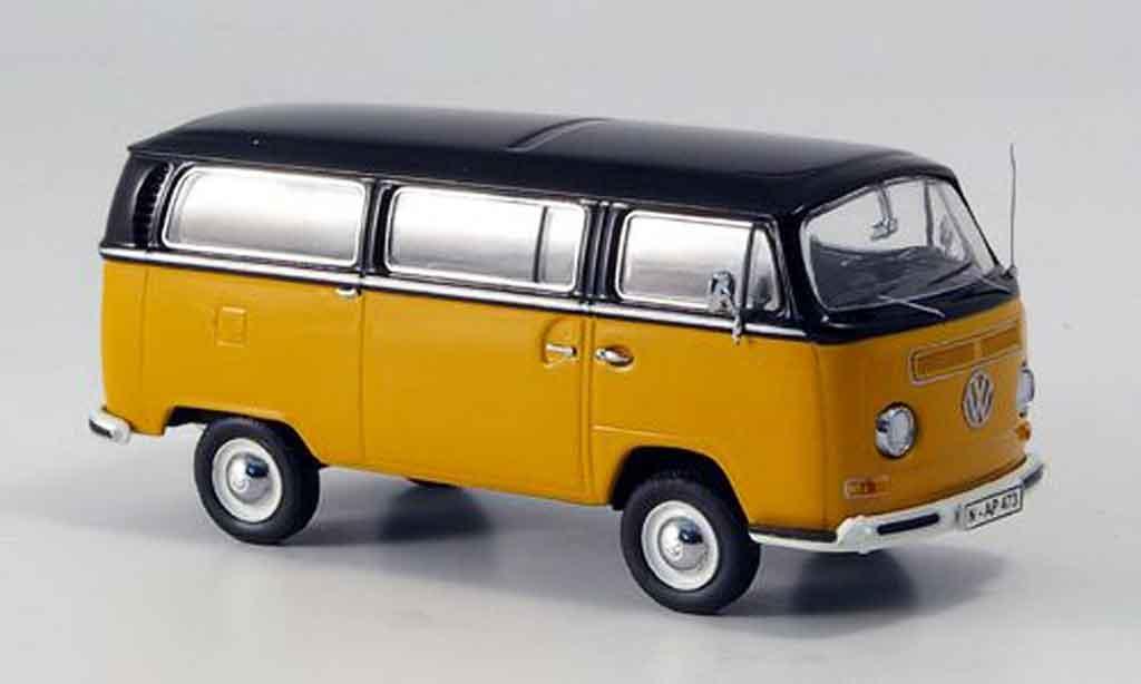 Volkswagen Combi 1/43 Schuco t2a luxusbus naranja negro coche miniatura