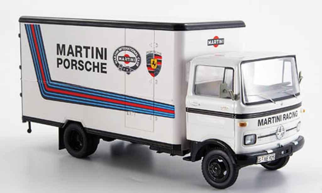 Mercedes LP 608 1/43 Schuco Martini Racing Kastenwagen miniature