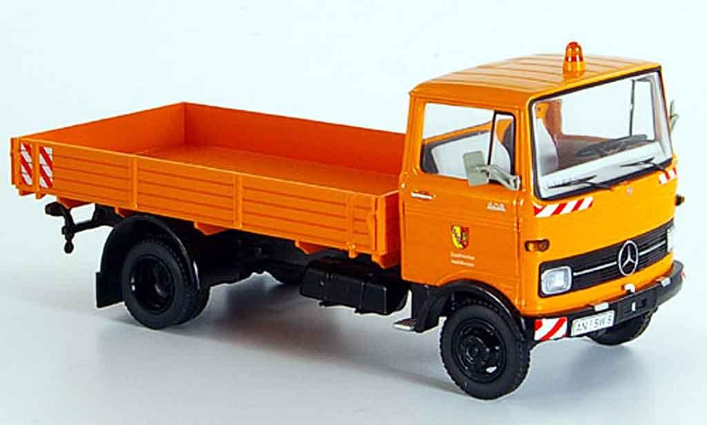 Mercedes LP 608 1/43 Schuco Heilsbronn orange miniature
