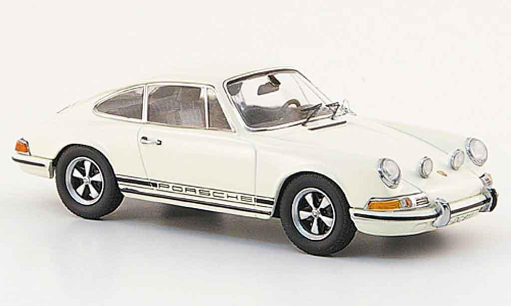 Porsche 911 1/43 Schuco S blanche avec noireem Schriftzug