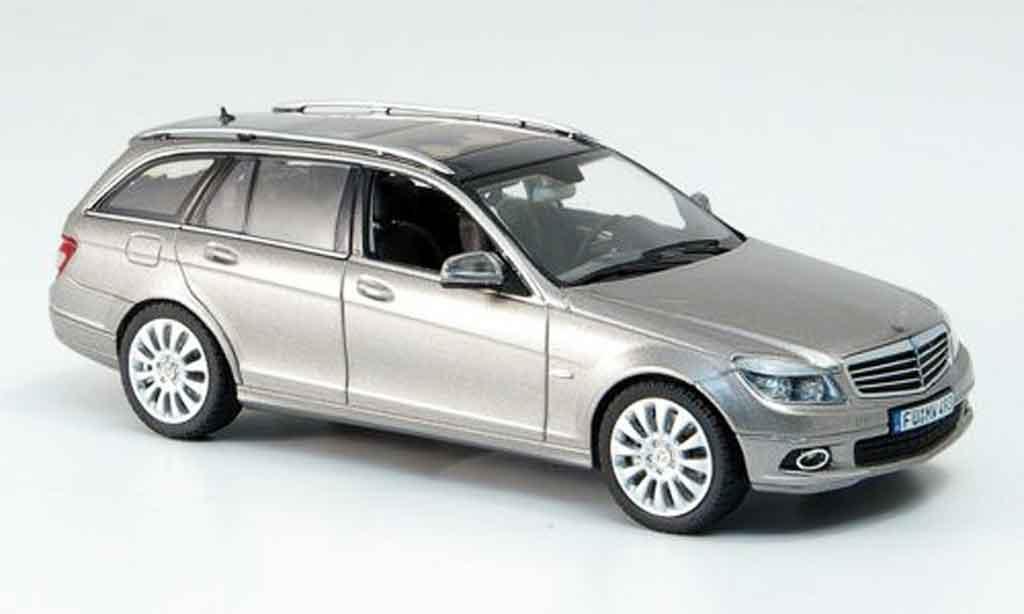 Mercedes Classe C 1/43 Schuco T Modell Elegance gris metallisee miniatura