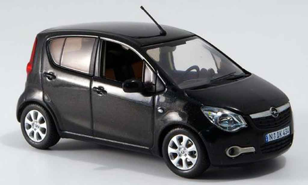 Opel Agila 1/43 Schuco noire miniature