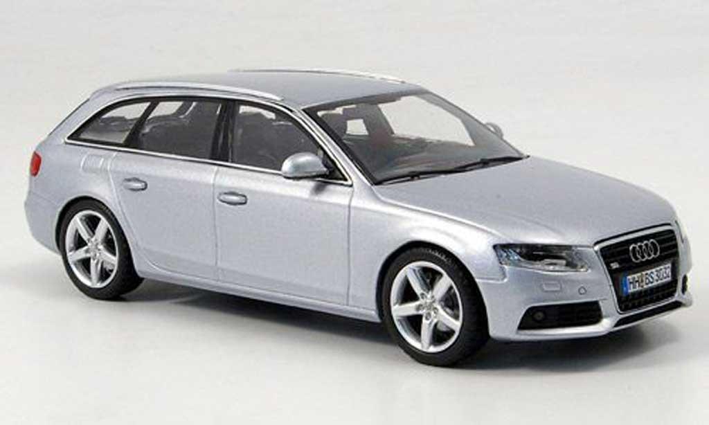 Audi A4 Avant 1/43 Minichamps grise 2008 miniature