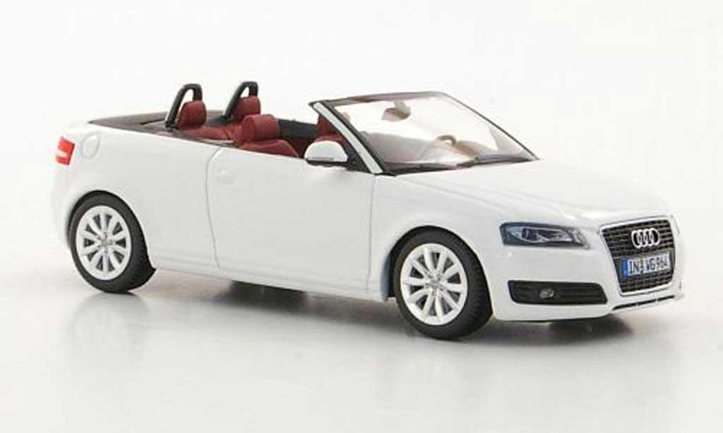 Audi A3 1/43 Minichamps Cabriolet blanche 2008 miniature