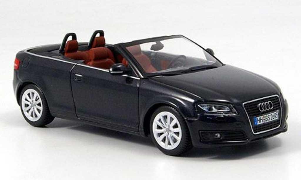 Audi A3 1/43 Minichamps Cabriolet noire 2008 miniature