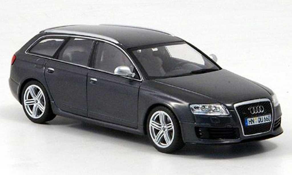 Audi RS6 1/43 Minichamps Avant grise 2008 miniature