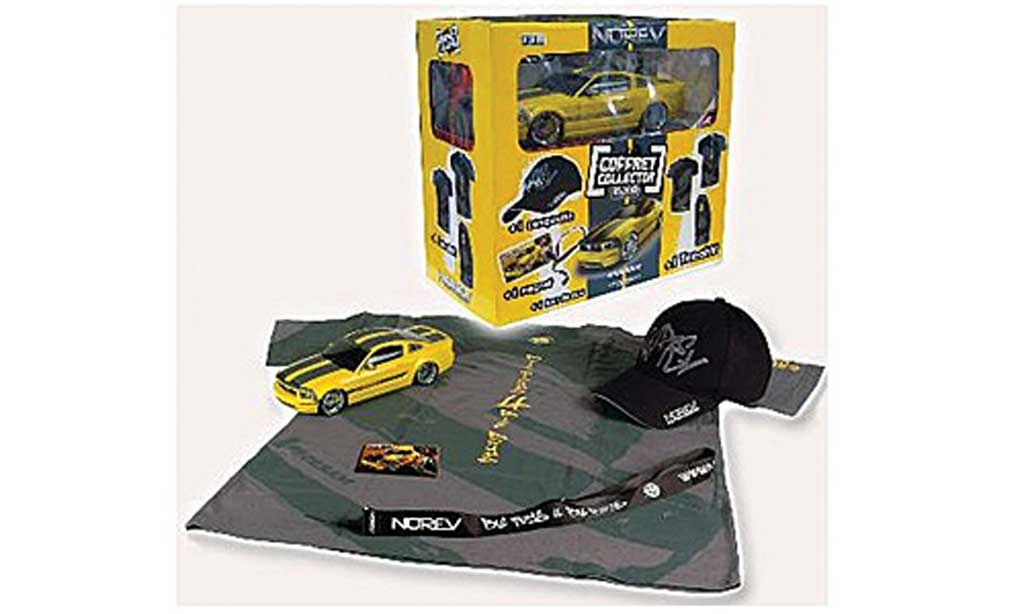 Ford Mustang Cesam 1/18 Norev by Parougeech jaune/grise 2007 miniature