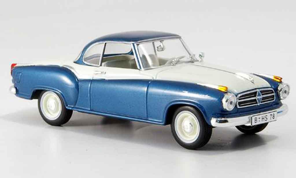 Borgward Isabella 1/43 Norev Coupe bleu blanche miniature