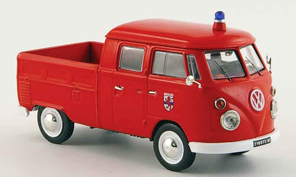 Volkswagen Combi 1/43 Norev t 1 doppelkabine pompier 1961 miniatura