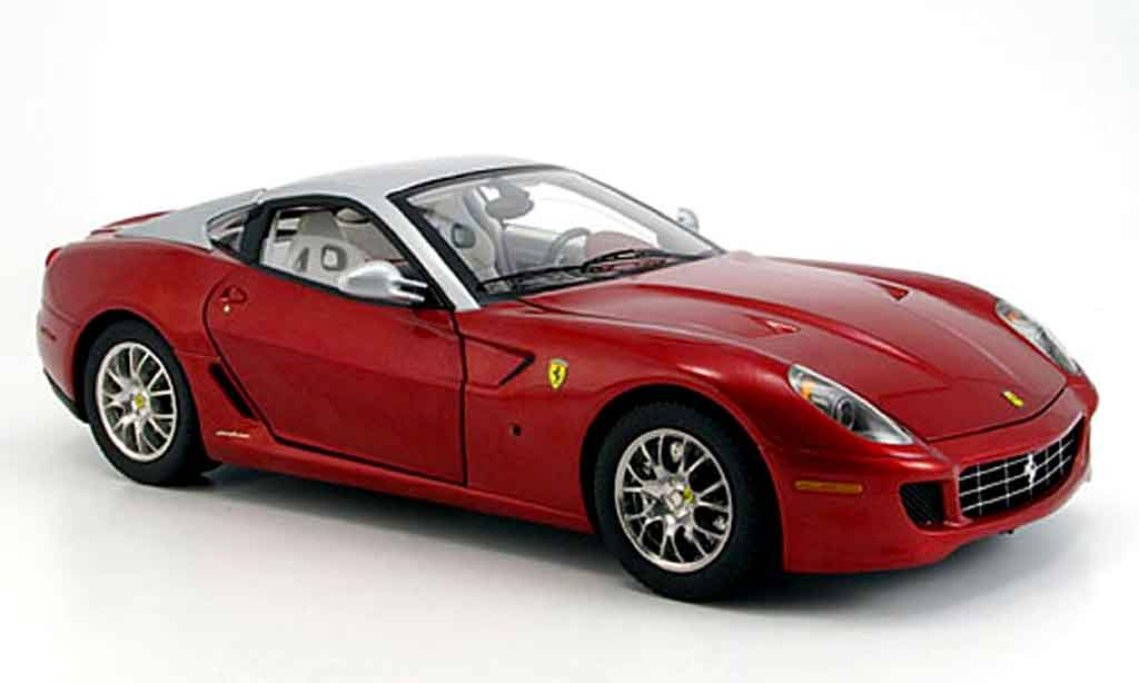 Ferrari 599 GTB 1/18 Hot Wheels Elite rosso et grigio elite edition modellino in miniatura
