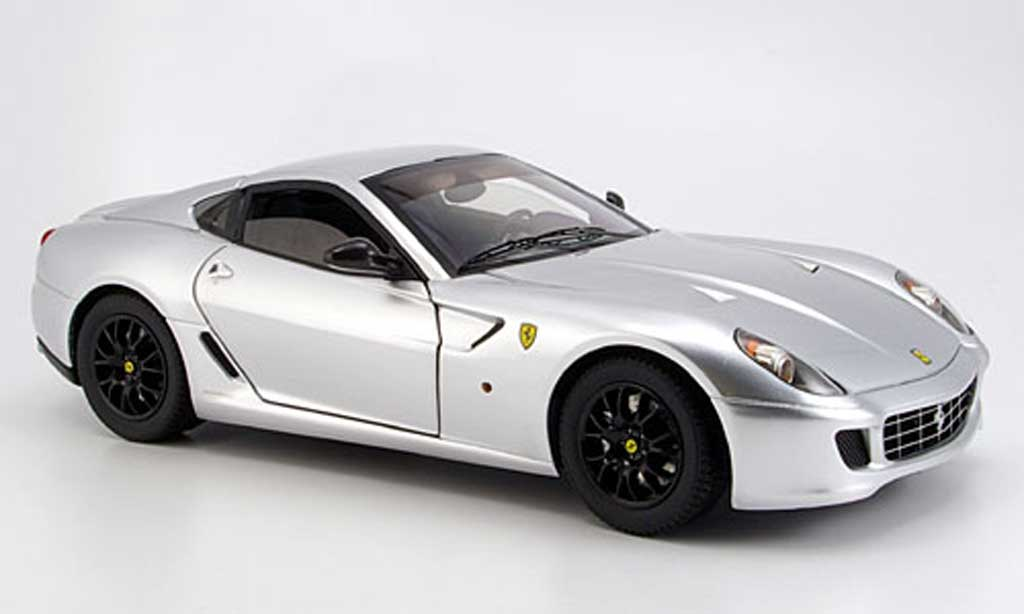 Ferrari 599 GTB 1/18 Hot Wheels Elite grigio metallisee