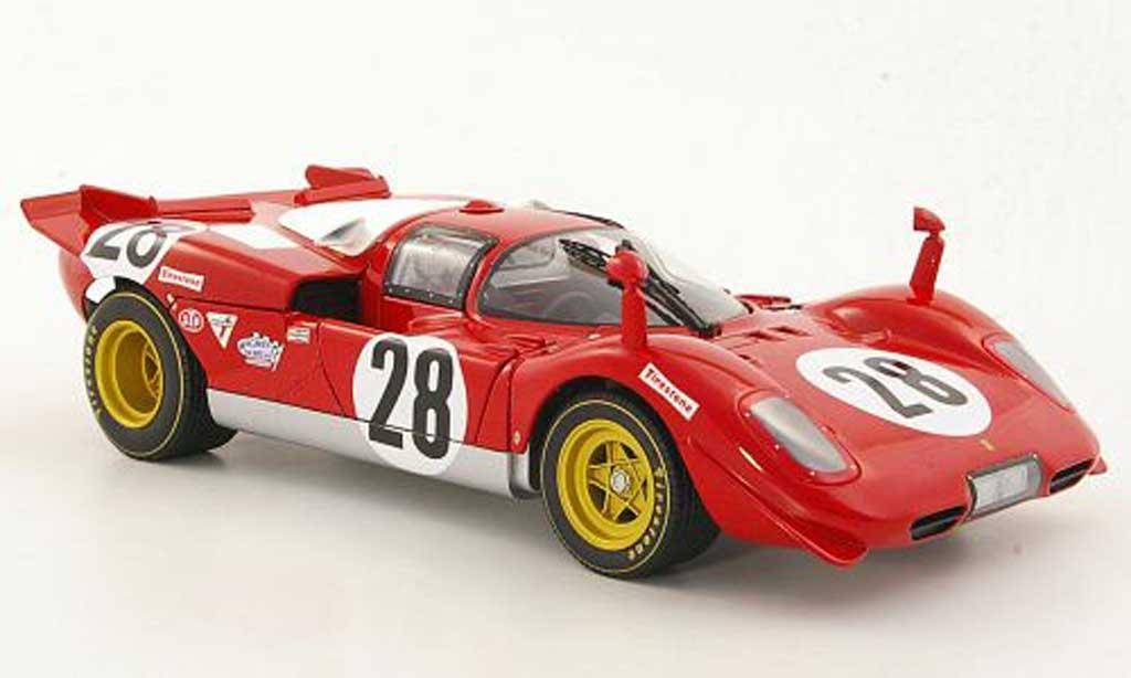Ferrari 512 S 1/18 Hot Wheels S No.28 Scuderia N.A.R.T. Andretti / Merzario / Ickx 24h Daytona 1970 modellino in miniatura