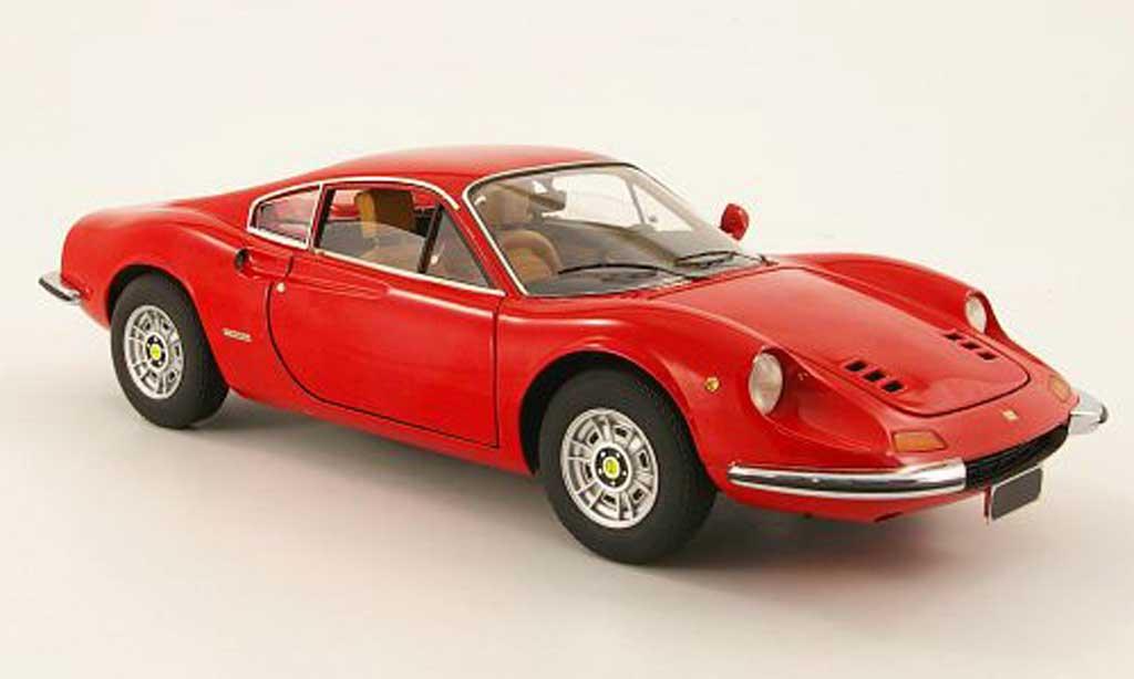 Ferrari 246 1/18 Hot Wheels dino rosso miniatura
