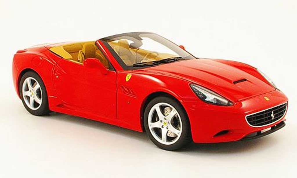 Ferrari California 2008 1/18 Hot Wheels Elite 2008 v8 rouge elite special ed. in klappbox miniature