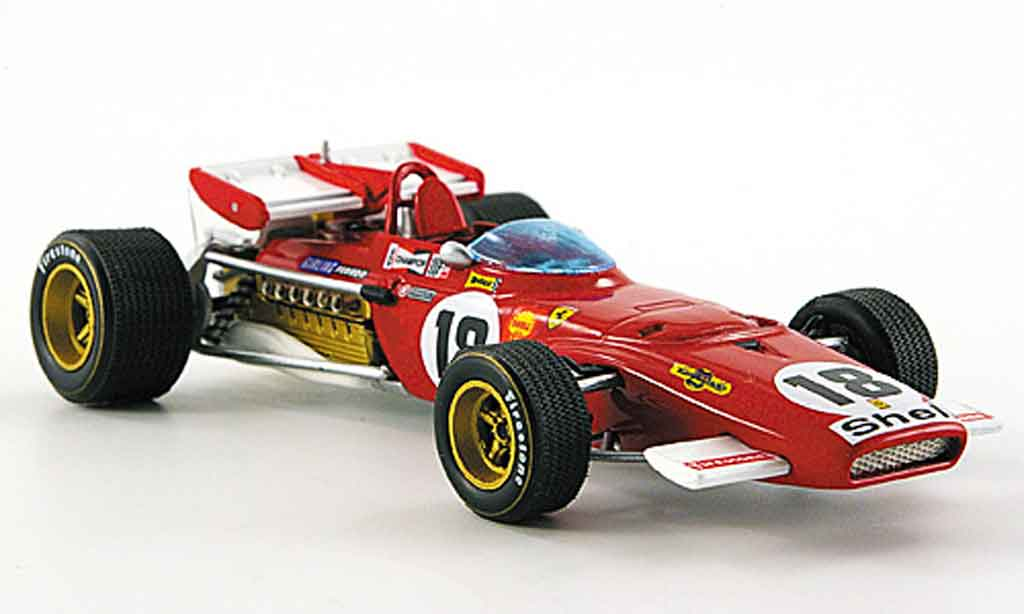 Ferrari 312 B 1/43 Hot Wheels Elite b no.18 j.ickx gp kanada 1970 miniature