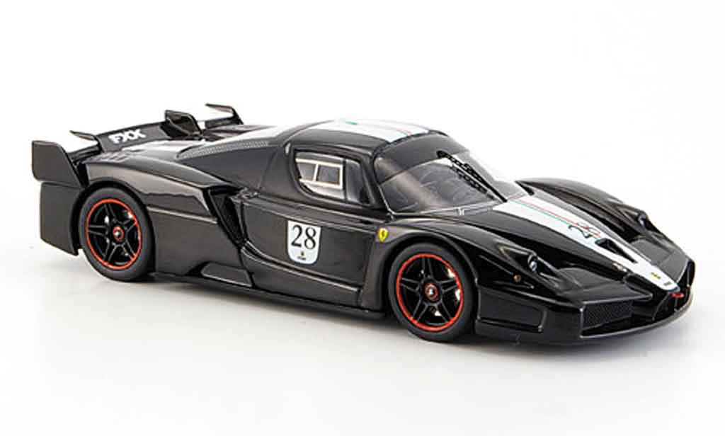Ferrari Enzo FXX 1/43 Hot Wheels Elite no.28 black avec whiteem streifen diecast model cars