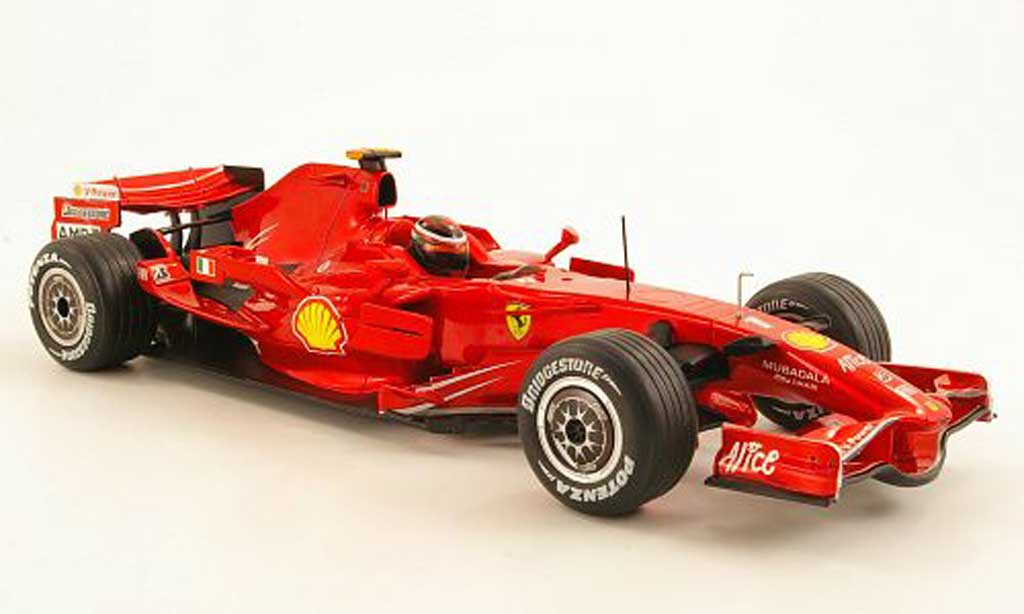 Ferrari F1 1/18 Hot Wheels F2008 K. Reikkonen 2008 miniature
