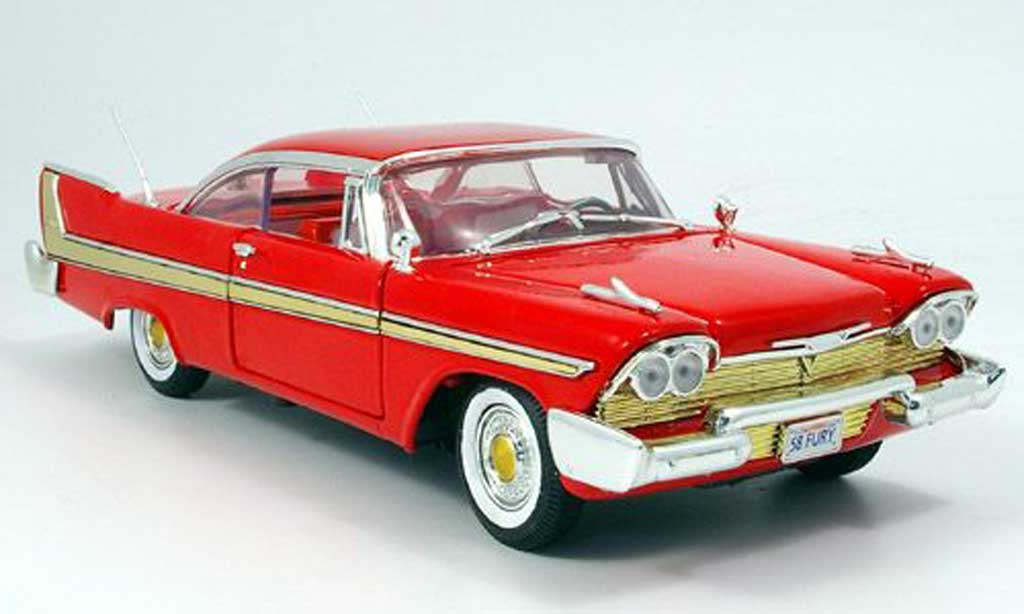 Plymouth Fury 1/18 Motormax rouge 1958 miniature