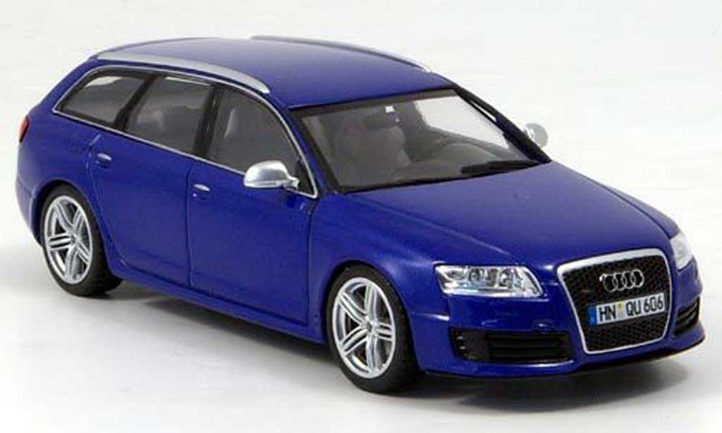 Audi RS6 1/43 Minichamps Avant bleu 2008 diecast