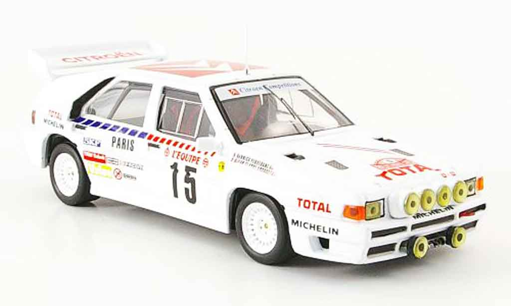 Citroen BX 4TC 1/43 IXO no.15 rallye monte carlo 1986