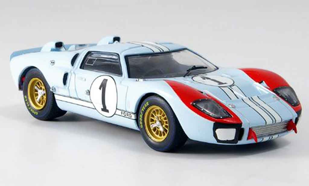 Ford GT40 1/43 IXO GT 40 MKII No.1 Miles Hulme Zweiter Le Mans 1966 miniature