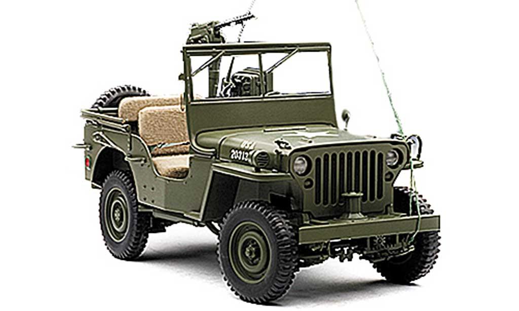 Jeep Willys 1/18 Autoart U.S. Army olivgrun mit Accessoires modellautos