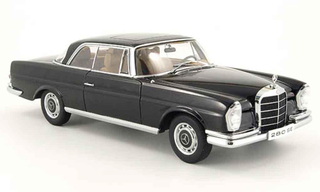 Mercedes 280 1968 1/18 Autoart se coupe noire miniature