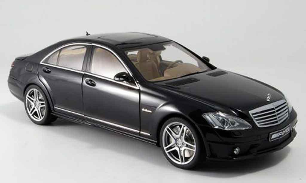 Mercedes Classe S 63 1/18 Autoart 63 amg black avec ledersitzen diecast model cars