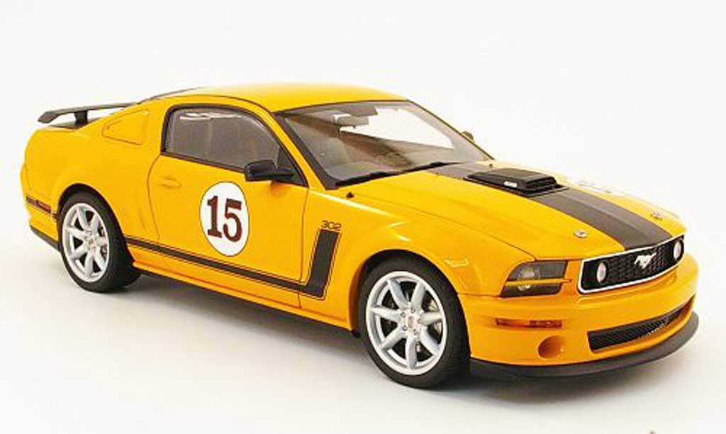 Ford Mustang 2007 1/18 Autoart parnelli jones sale no.15 orange miniature
