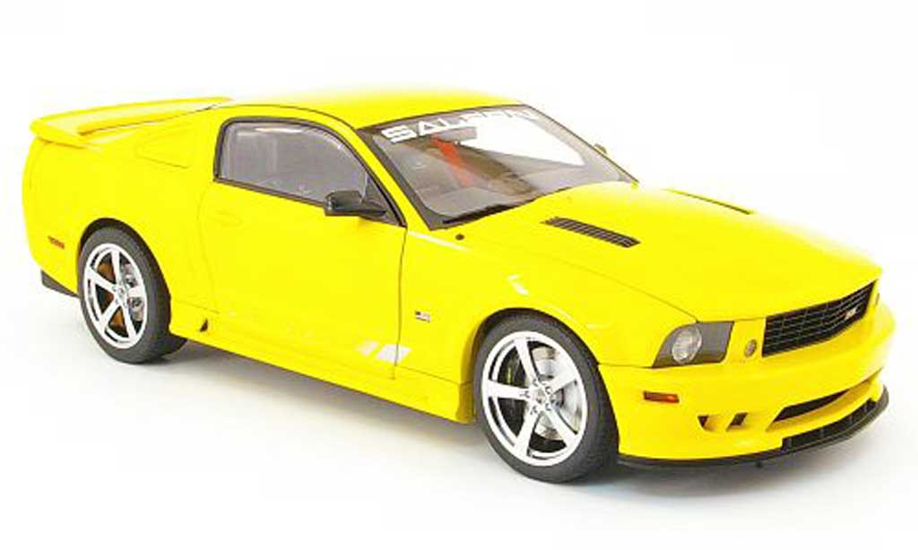 Ford Mustang Saleen 1/18 Autoart s281 extreme jaune miniature