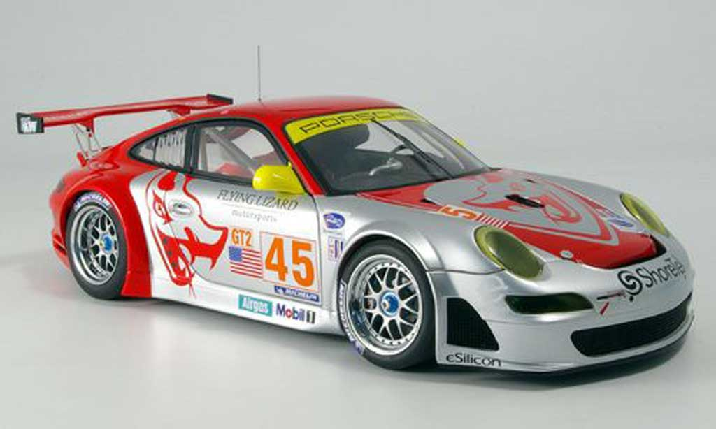 Porsche 997 GT3 RSR 1/18 Autoart 2007 no.44 flying lizard alms diecast model cars